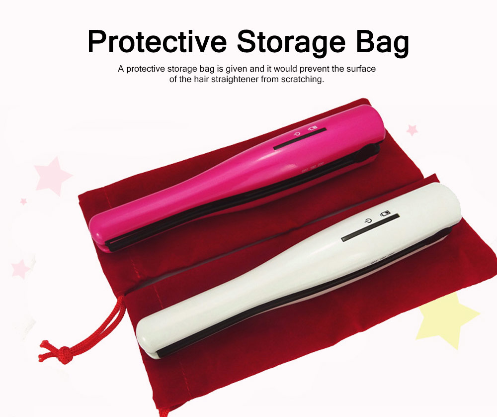 Mini Portable Wireless Hair Straightener Iron, Ceramic Glaze Coating Hair Care Shaping Heating Hairpin 4