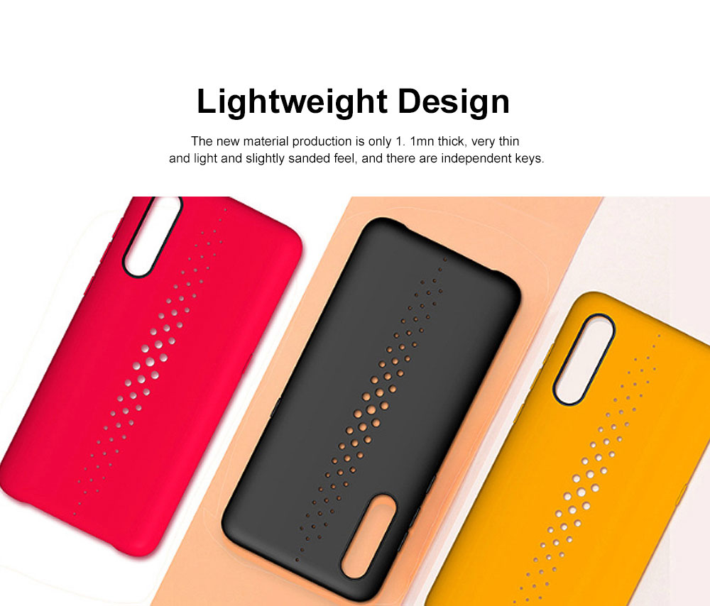 Pure Color Phone Case with Heat Disspation Hollow-out, Dull Polish Protective Cover for Xiaomi 9 Phone Back Case 1