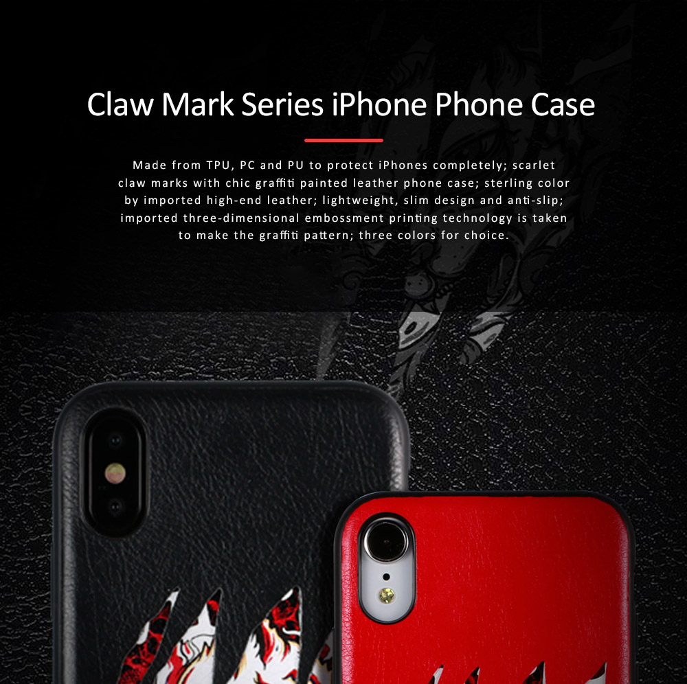 Claw Mark Series Phone Protective Case for iPhone X, New Style Apple iPhone X Shell Back Cover Phone Case 0
