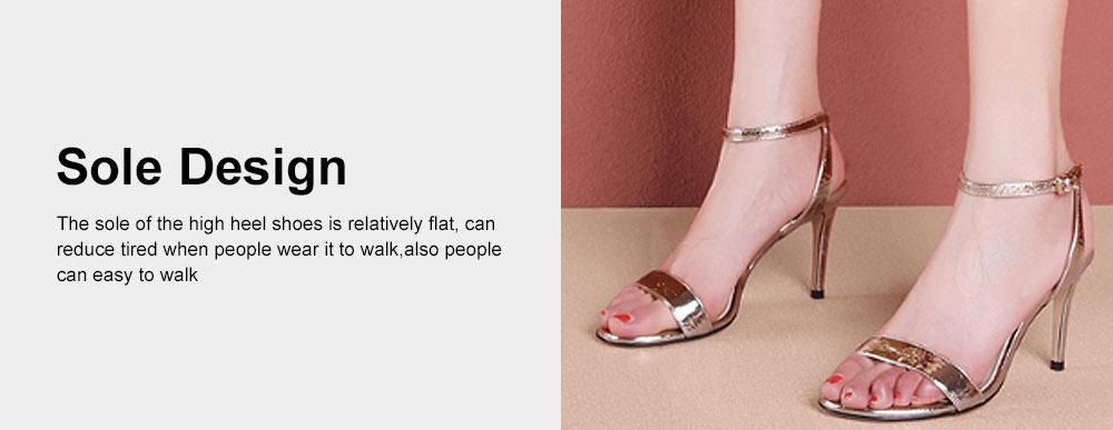 Summer High Heel Sandals with Word Buckle Roman Sandals, Women Dress Shoes Sexy High Heels 3