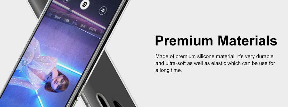 Plain Transparent Phone Case Ultra-soft Light Silicone Phone Shell for HUAWEI NOVA 4 Shinny Phone Cover 4
