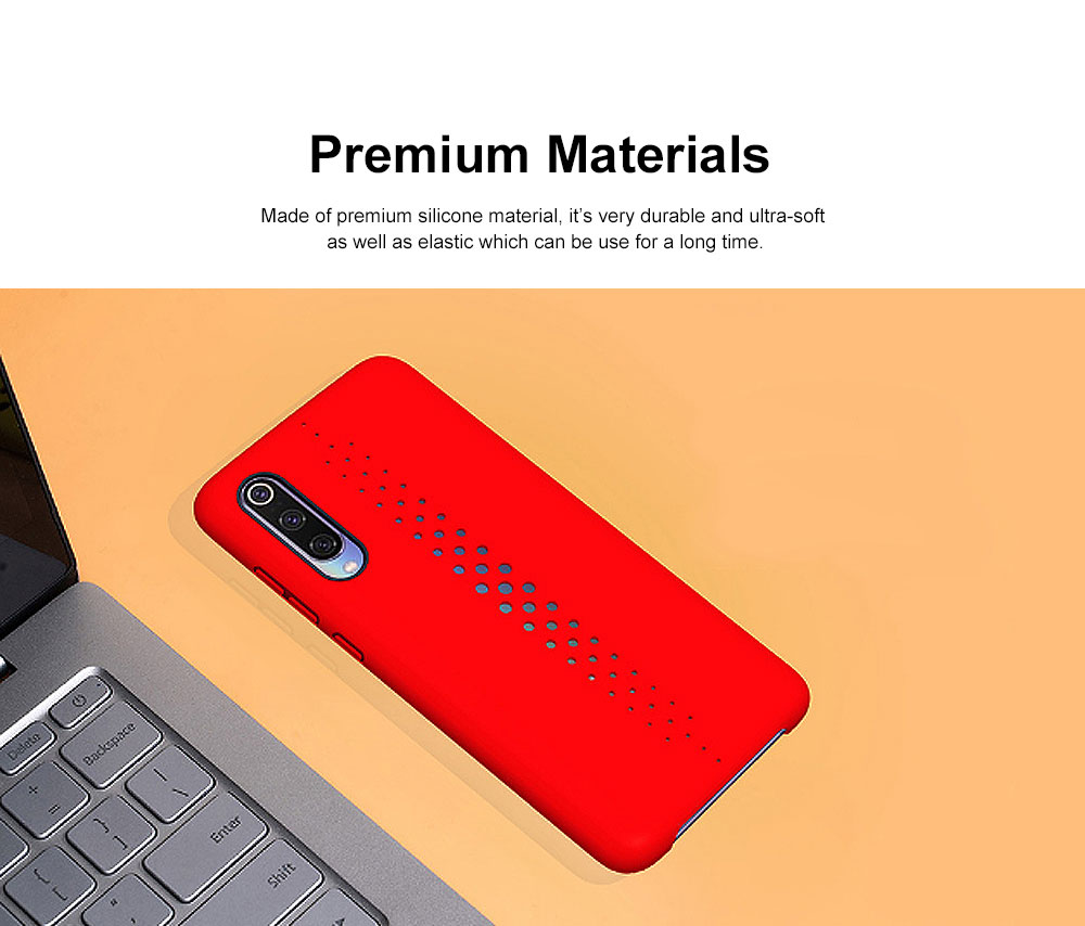 Pure Color Phone Case with Heat Disspation Hollow-out, Dull Polish Protective Cover for Xiaomi 9 Phone Back Case 2