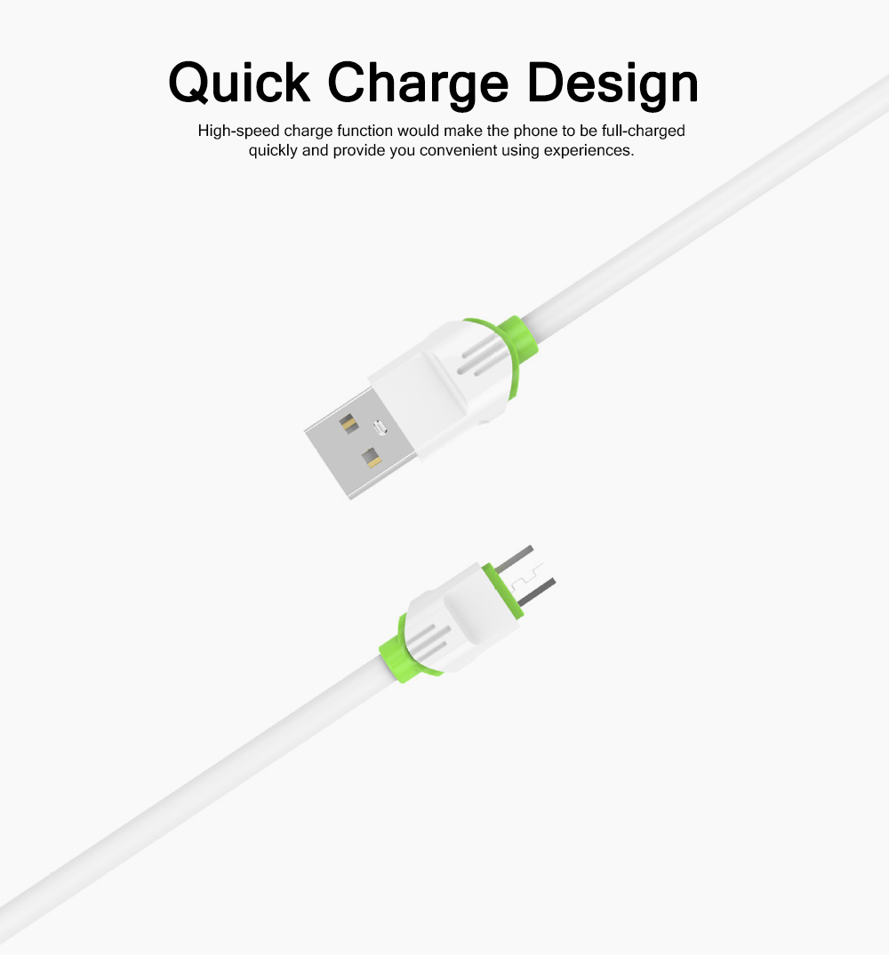 2.4A 3A High-speed Quick Charge iPhone Android Type-c Charging Cable, Delicate Copper USB Mobile Phone Charging Wire 4