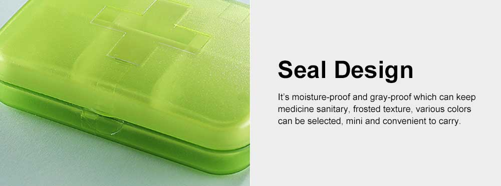 Moisture-proof Waterproof Weekly Pill Case, Multi-purpose Pill Organizer Pure Color Medicine Box with Large Capacity 5