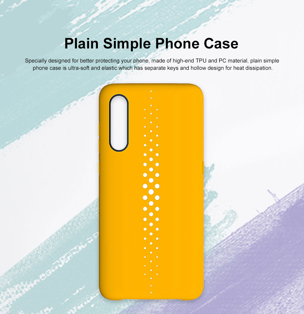 Pure Color Phone Case with Heat Disspation Hollow-out, Dull Polish Protective Cover for Xiaomi 9 Phone Back Case 0