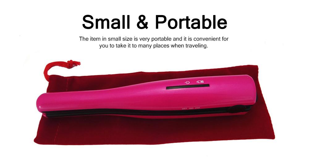 Mini Portable Wireless Hair Straightener Iron, Ceramic Glaze Coating Hair Care Shaping Heating Hairpin 3