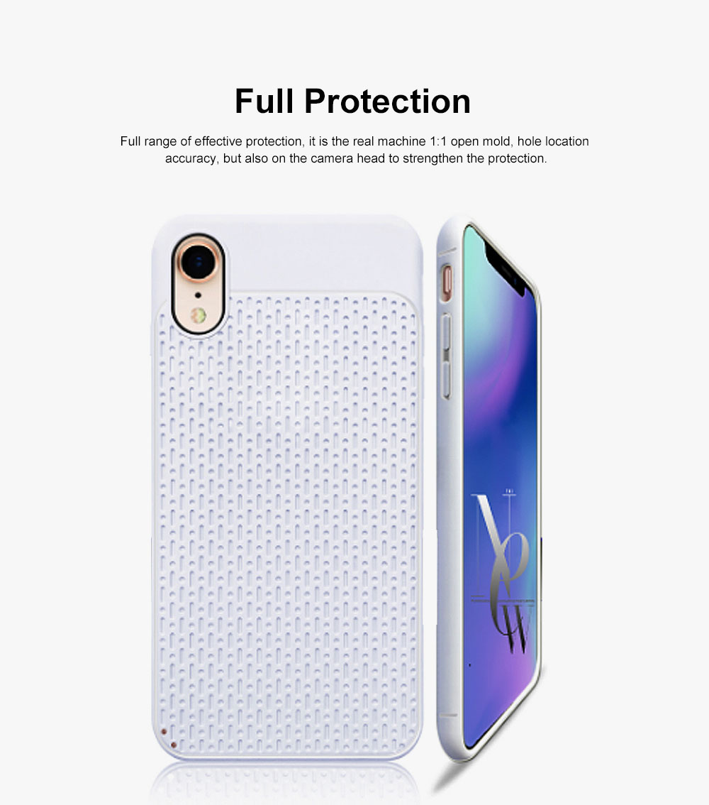 Non-slip Plaid Apple Phone Case with Total Package Side Design Separate Keys, Ultra-soft Silicone Phone Shell for iPhone XR or XS MAX 6.5 inch 1