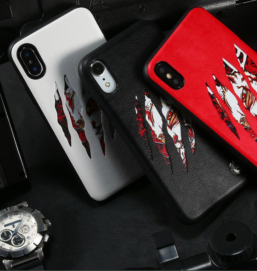 Claw Mark Series Phone Protective Case for iPhone X, New Style Apple iPhone X Shell Back Cover Phone Case 8