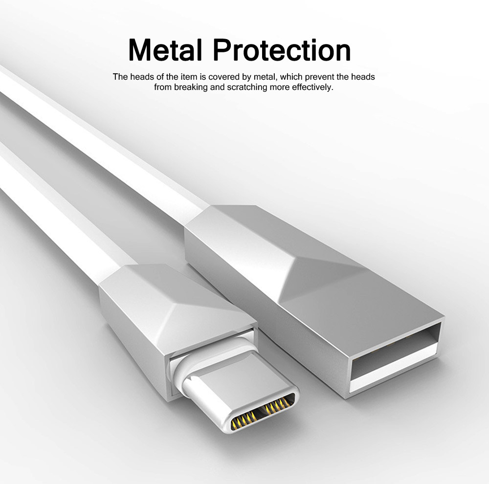 Delicate 2.4A Single-end Type-C Copper Charging Cable, Unique Stylish Smart Phone USB Data Charging Wire 4
