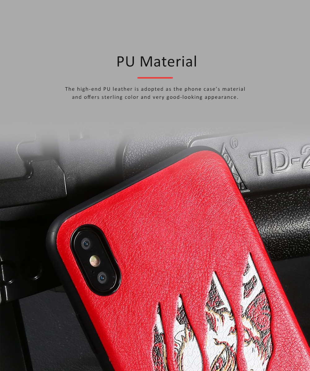 Claw Mark Series Phone Protective Case for iPhone X, New Style Apple iPhone X Shell Back Cover Phone Case 9
