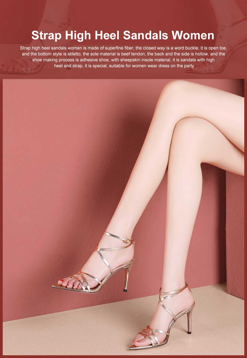 Open Toes High Heel Sandals with Ankle Strap, Front Cross Strap Footwear Thin Heel Dress Shoes for Fashion Ladies Summer 0