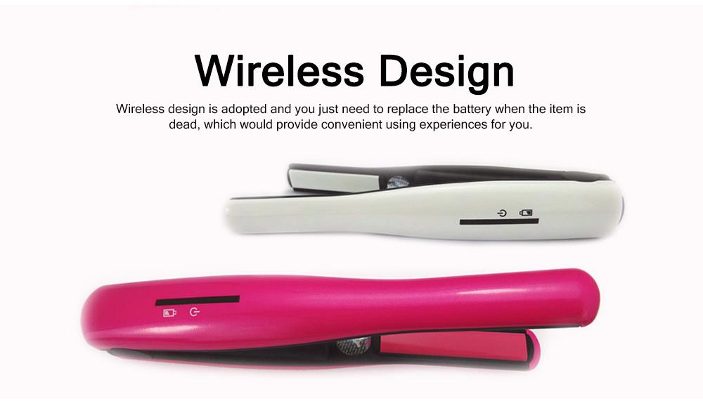 Mini Portable Wireless Hair Straightener Iron, Ceramic Glaze Coating Hair Care Shaping Heating Hairpin 2