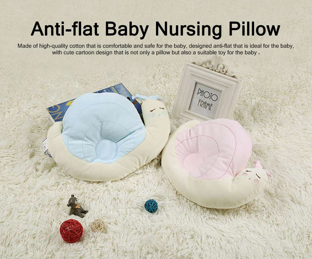 Comfortable Anti-flat Pillow, Snail Shape Pillow for New-born, Toddlers Baby Nursing Bedding Pillow 0