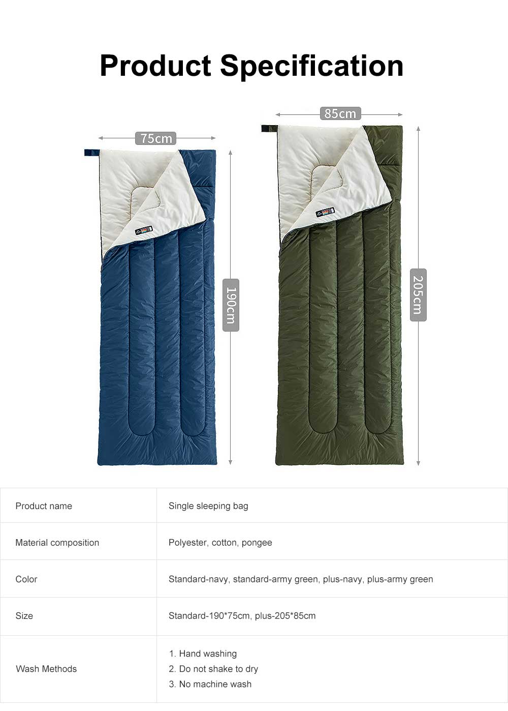 Breathable Sleeping Bag for Adults Indoors & Outdoors Use, Water-proof Single Sleeping Bags are Perfect for Hiking Backpacking Camping 5