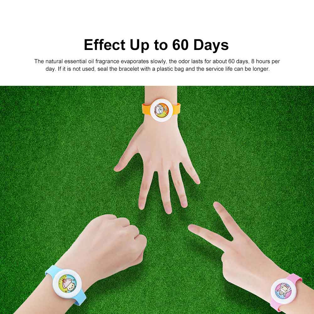 Plant Essential Oil Repellent Watch for Infant Baby & Pregnant Woman Set 5 Pieces, Portable Cartoon Images Mosquito Repellent 1