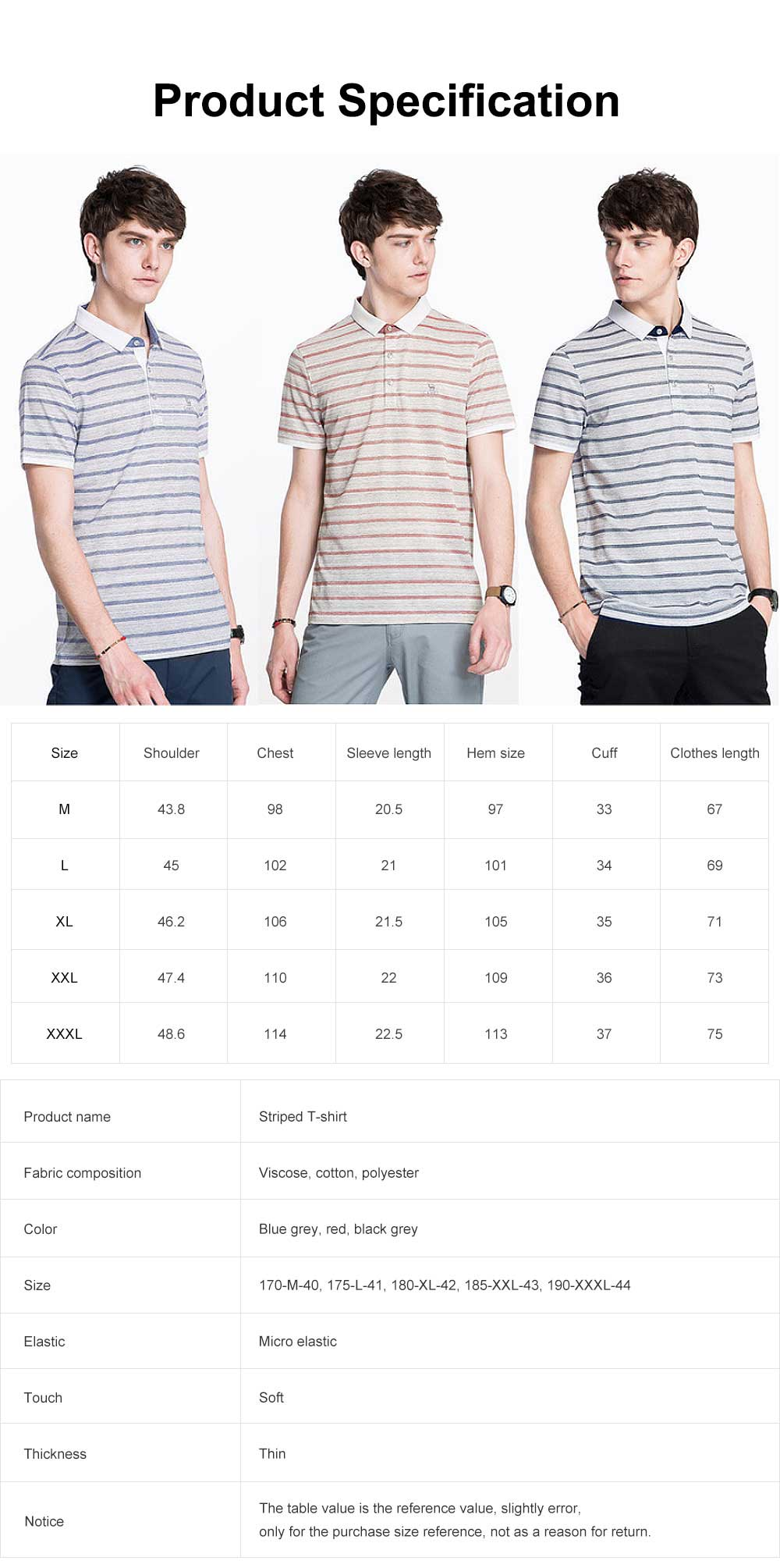 Striped Polo Shirt for Men, Embroidered Camel Lapel Design Polo, Breathable Fabric Short Sleeves Polo Shirt 6