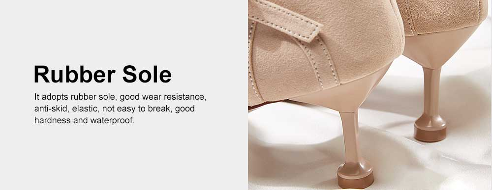 Tip Toe High Heel Sandals for Girl & Women, Women Pointy Stiletto Heels, Single Button Shoes with Platform Strap Buckle 5