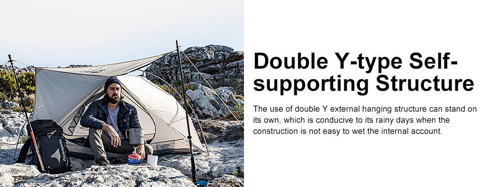 Ultra-light Outdoor Tent Camping Snow Rainproof Tents for Single Person Portable Aluminum Tent 4