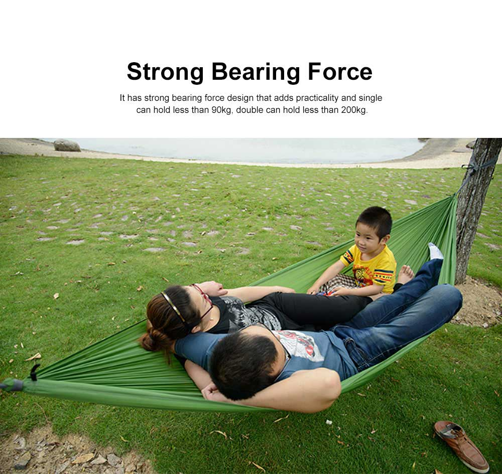 Canvas Hammock for Outdoor Enthusiasts, Strong Bearing Force Cot Bed, Firmly Bind Mesh Leisure Swing 1