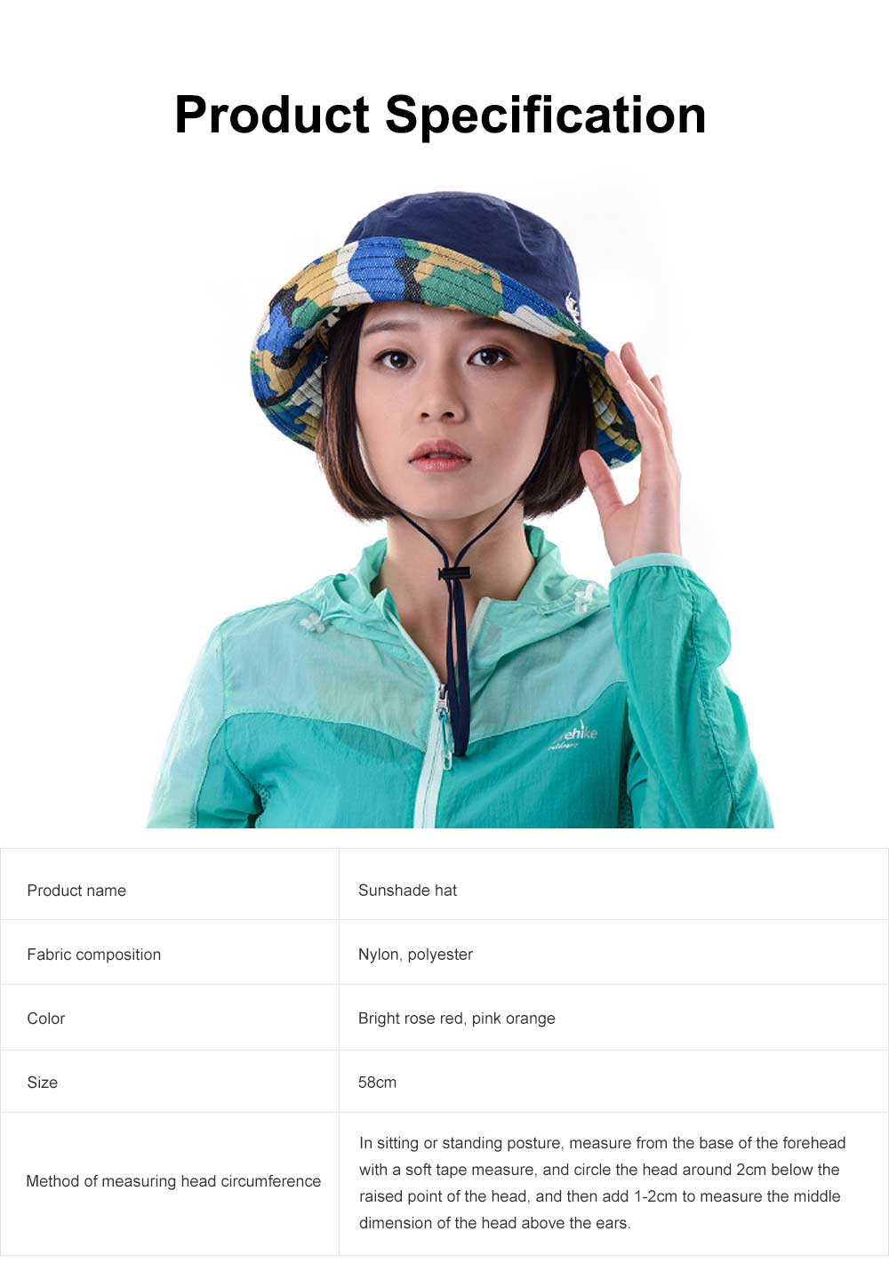 Sunshade Hat for Outdoors, Fishing, Hiking UV Protection, Breathable Fisherman Hat 2019 Women Summer Hat 6