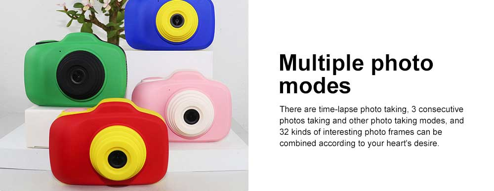 Digital Camera for 3-12 Years Old Children, HD Child Camera 2.3'' 1200W Pixel, Kids Digital Camera 3