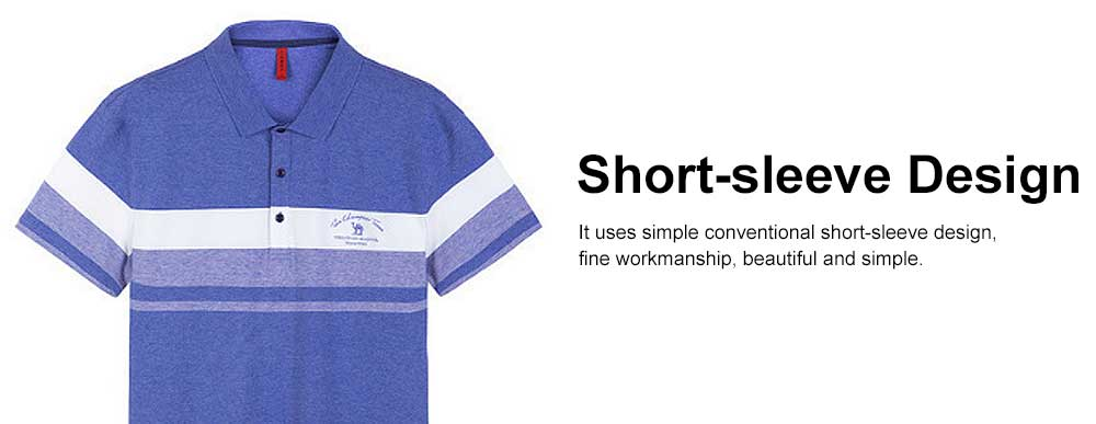 Cool Contrast Tops for Men, Recreational Edition Short-sleeve Polo, Breathable Spandex Cotton T-shirt 4