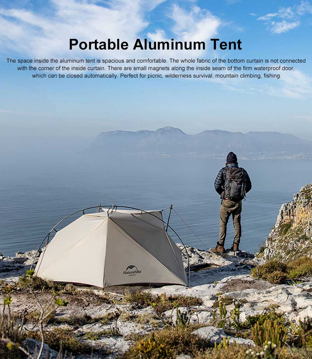 Ultra-light Outdoor Tent Camping Snow Rainproof Tents for Single Person Portable Aluminum Tent 0