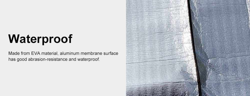 Outdoor Waterproof Aluminum Membrane Mat, Thickening Camping Tent Mat Beach Mat 200*150cm 4