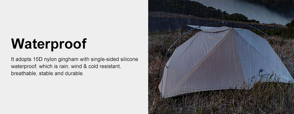 Ultra-light Outdoor Tent Camping Snow Rainproof Tents for Single Person Portable Aluminum Tent 3