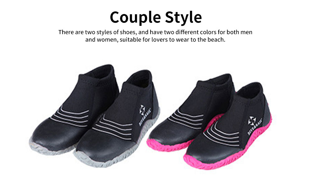 Diving Shoes with Neoprene Nylon Silicone Material, Anti-skid Prevent Scratch Sports Shoes for Men Women, River Tracing Keep Warm Snorkeling Fins Low Shoes 5