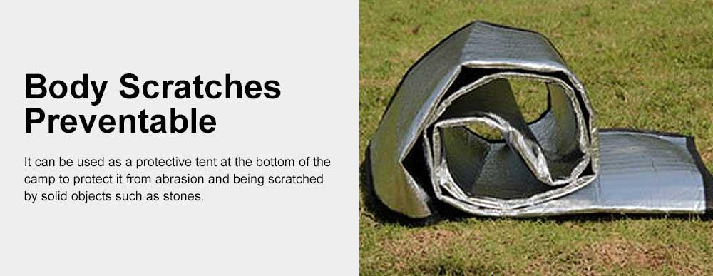 Outdoor Waterproof Aluminum Membrane Mat, Thickening Camping Tent Mat Beach Mat 200*150cm 2