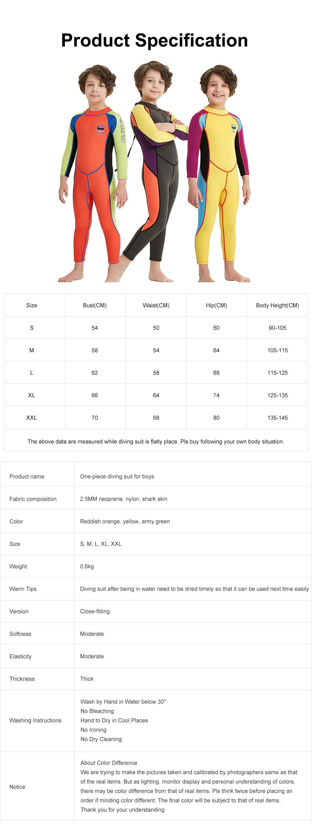 One-piece Boy Diving Suit, Long Sleeve Diving Clothes for Boys, Sunblock Swimsuits Snorkeling 2019 Spring Surfing Swimwear 9