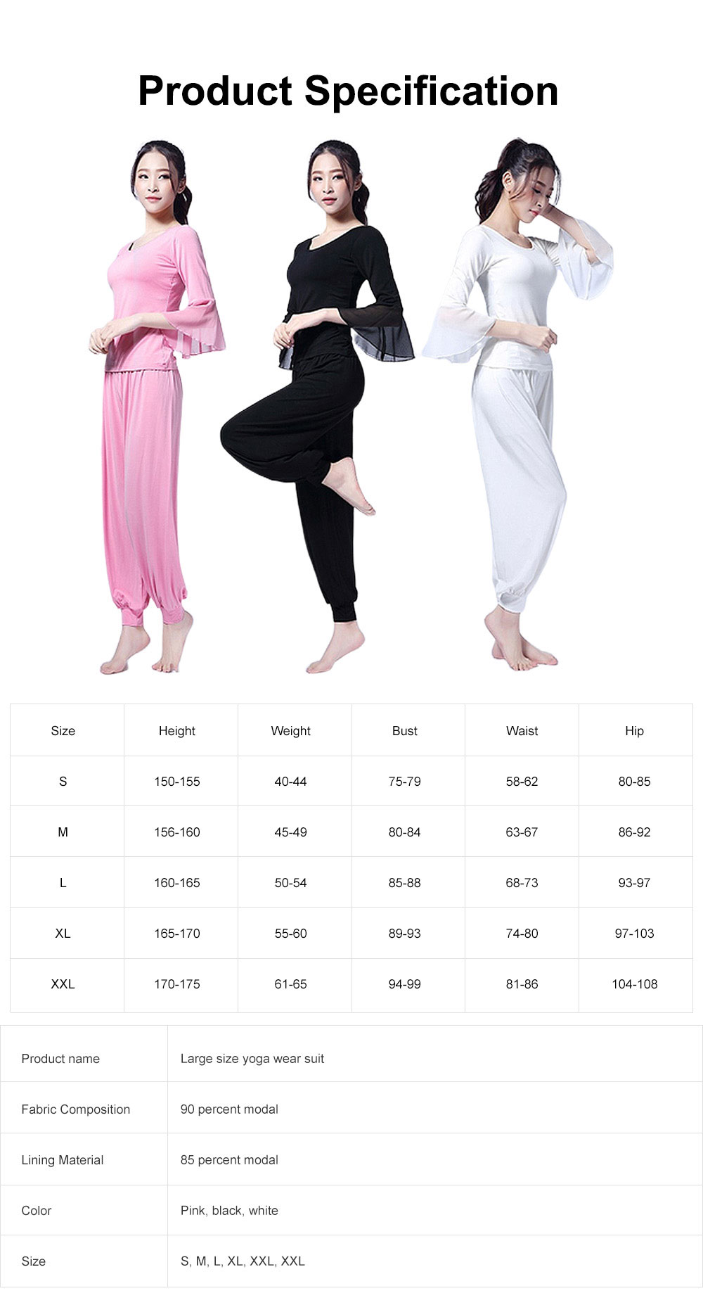Skin-friendly Yoga Wear Suit, Loose Performance Wear Large Size, Loose Clothes Suit Fitness Dress Suit for Women 2019 6