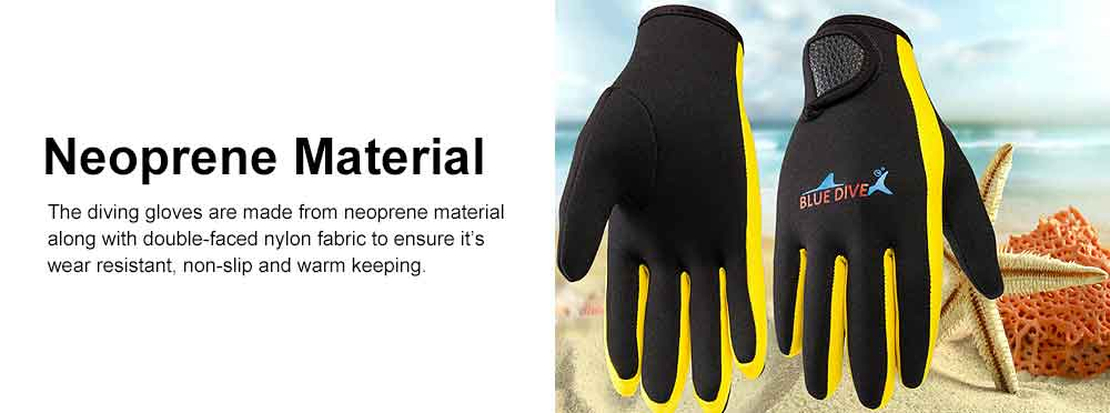 Diving Gloves for Divers, Wear Resistant Diving-dedicated Gloves, Underwater Working Gloves for Snorkeling, Diving, Winter Swimming, Surfing  2