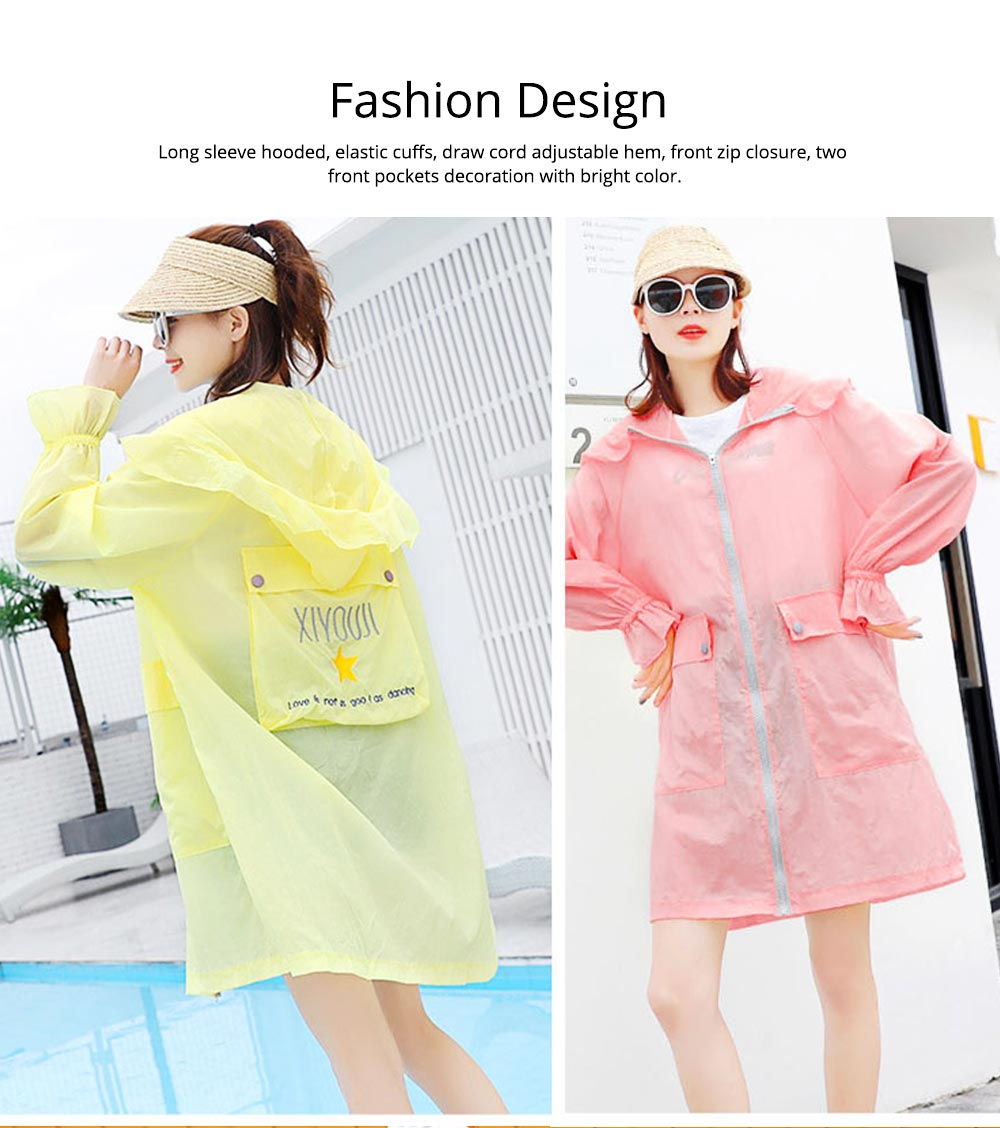 Women UV Protection Jacket, Ultra Thin Breathable Sunscreen Summer Clothes for Outdoors 2019 4