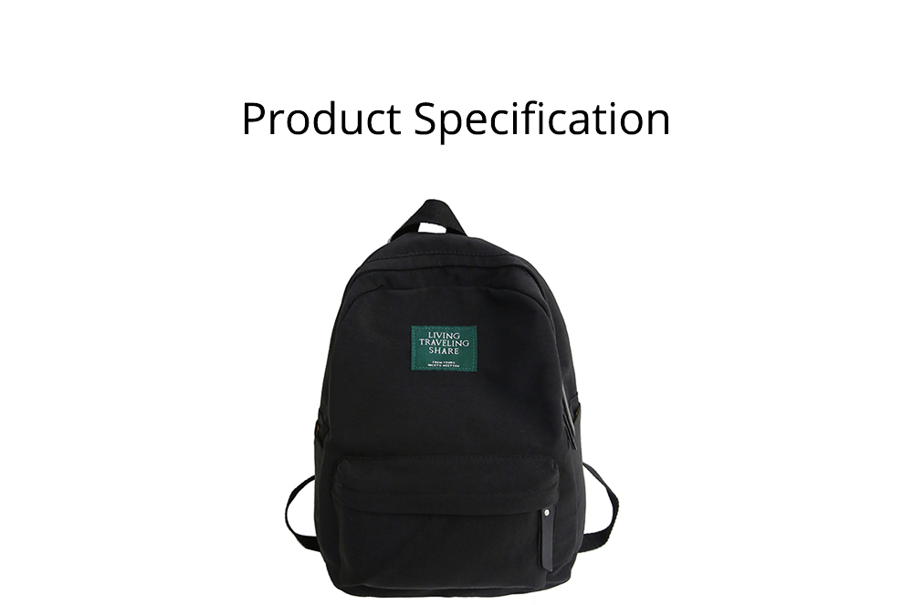 Fashion Backpack with Waterproof Nylon School Bag, Large Capacity Shoulder Bag for Women 6