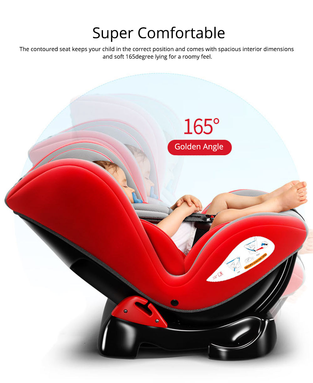 Children's Booster Seat Large Auto Car Seat Protectors for Child, Baby Safety Seat Thick Padding Car Seat 4