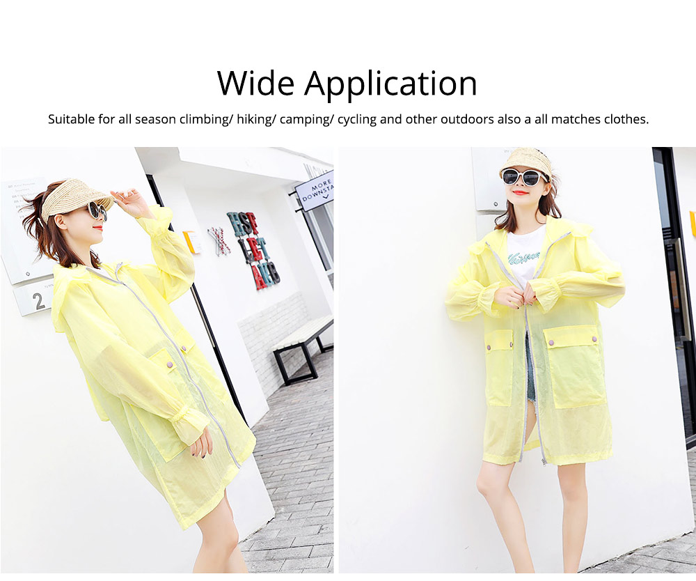 Women UV Protection Jacket, Ultra Thin Breathable Sunscreen Summer Clothes for Outdoors 2019 6