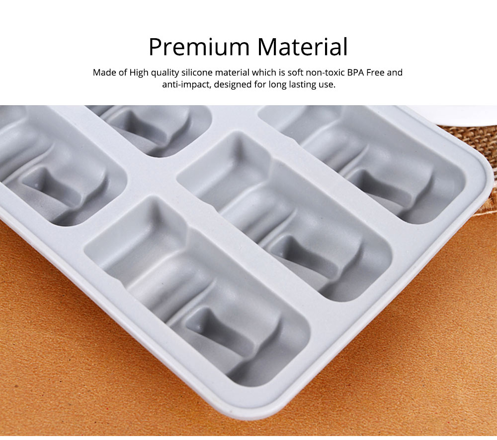 Ice Cube Trays,Silicone Easter Island Ice Tray Box, Ice Cube Molds for Chilled Drinks, Whiskey & Cocktails 3