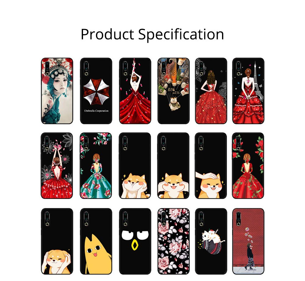 Soft Silicone TPU Cover Case, Thin Phone Protection Shell, Shock Absorption Soft Cover for Meizu 16S 8