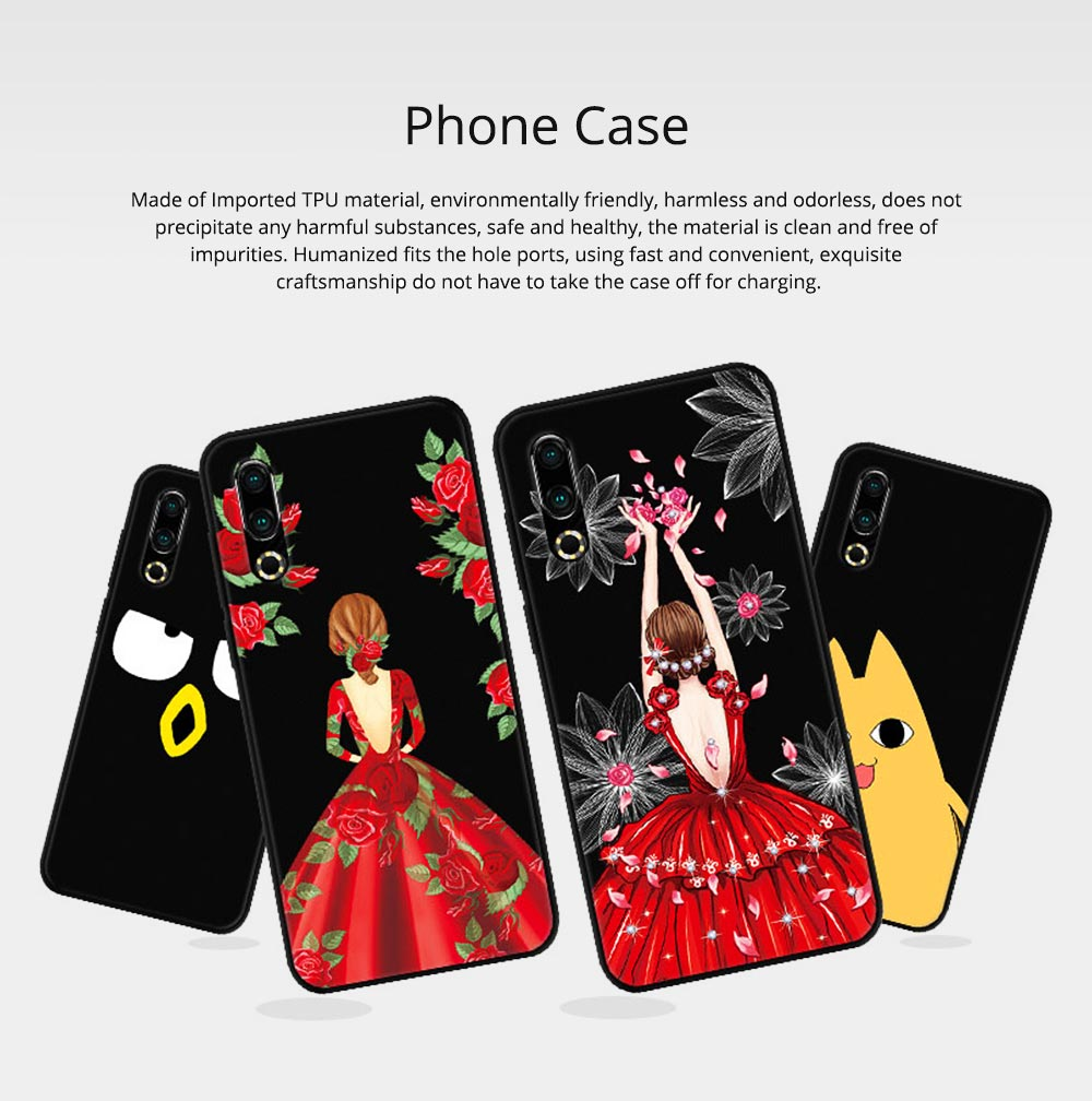 Soft Silicone TPU Cover Case, Thin Phone Protection Shell, Shock Absorption Soft Cover for Meizu 16S 0