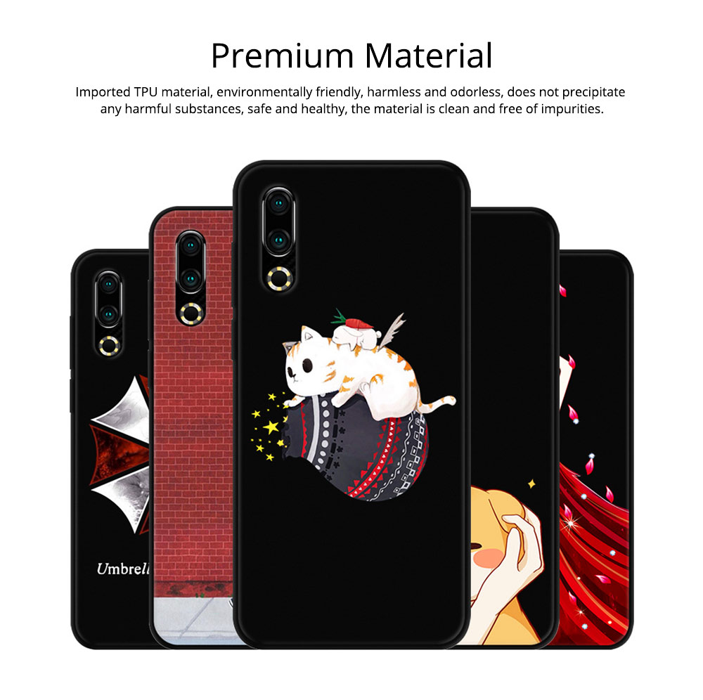 Soft Silicone TPU Cover Case, Thin Phone Protection Shell, Shock Absorption Soft Cover for Meizu 16S 3