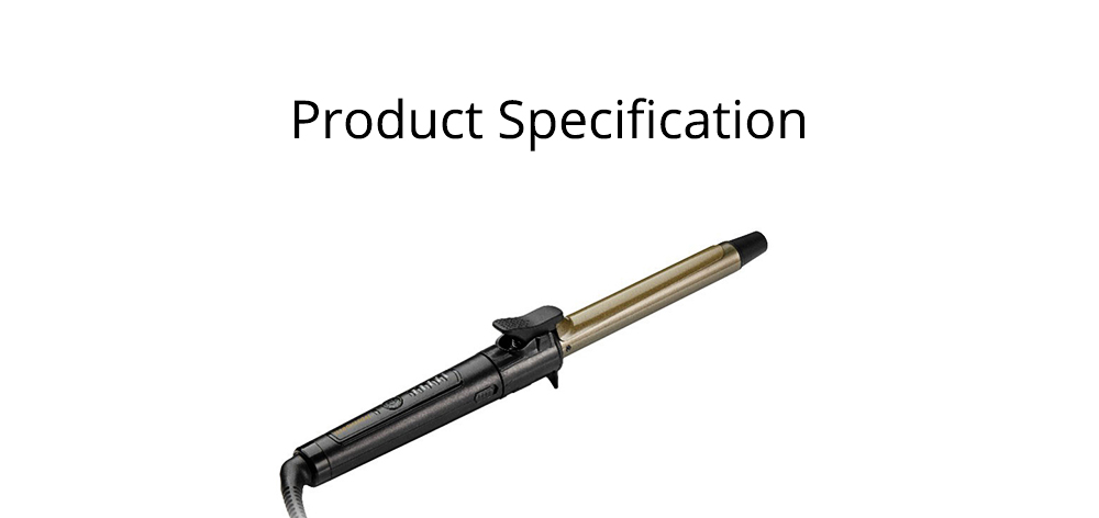 Curling Iron for Girls, Ceramic Tourmaline Coating Curling Wand, Women Hair Styler with 5 Modes Temperature 8