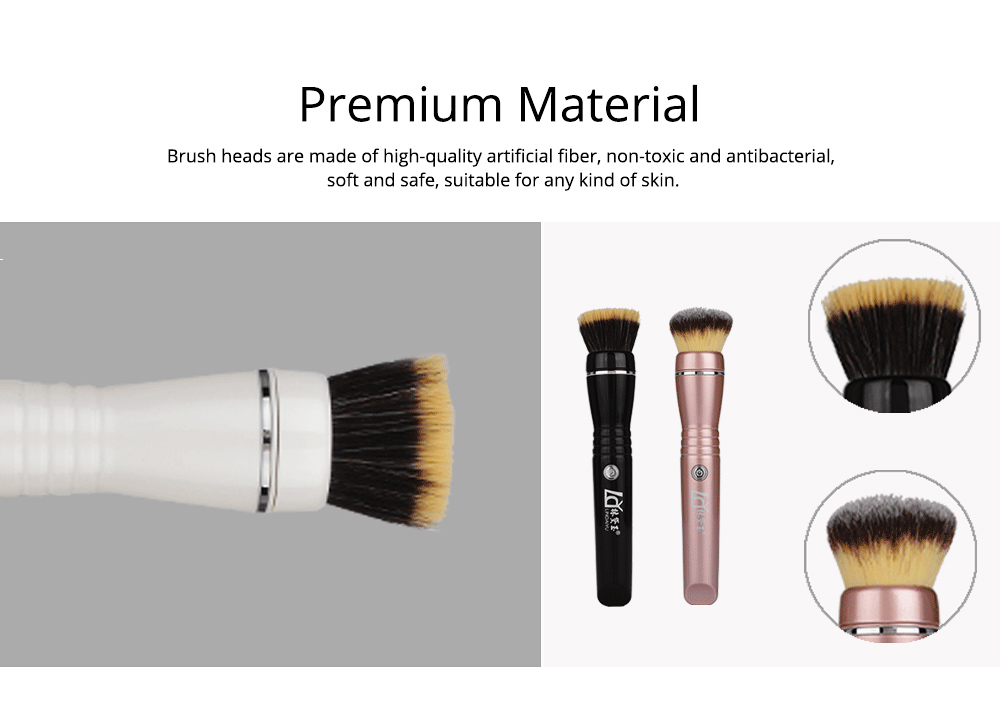 USB Charging Electric Makeup Brush Set, Automatic Cosmetic Brush Spinner with Foundation Powder Brush Head 4