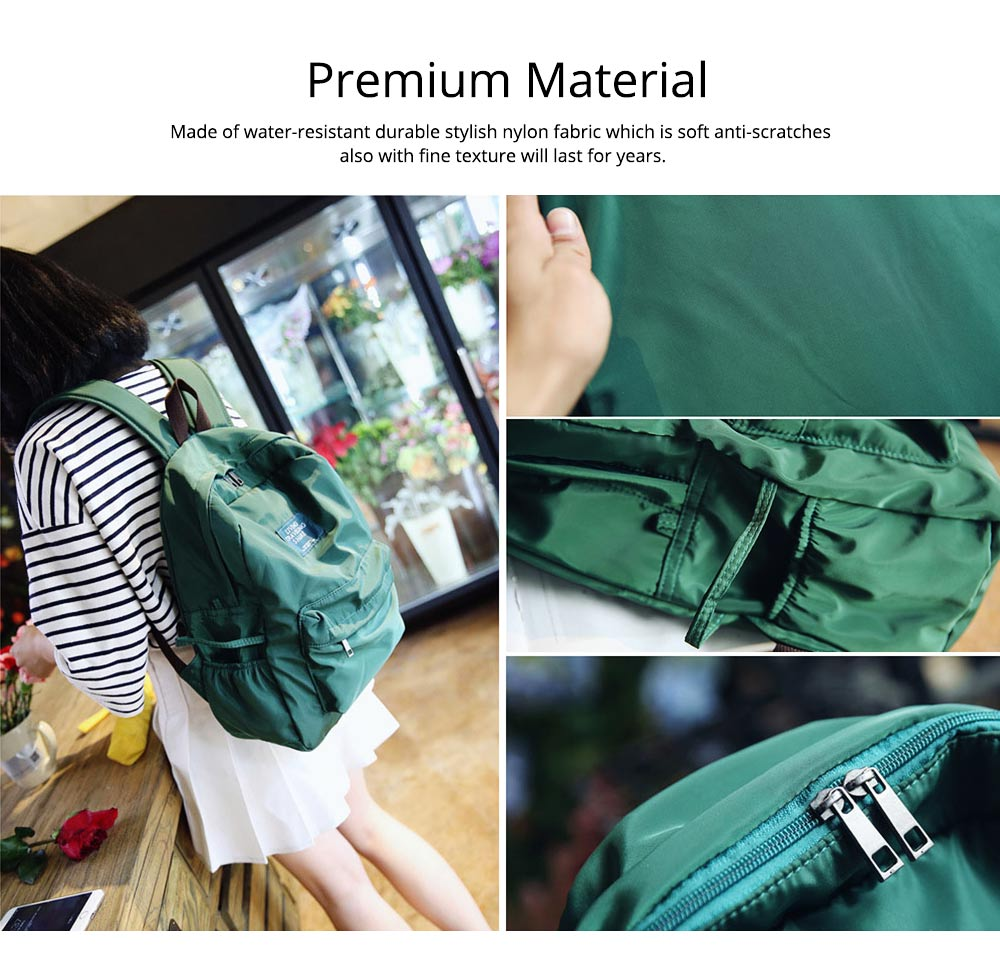 Fashion Backpack with Waterproof Nylon School Bag, Large Capacity Shoulder Bag for Women 3