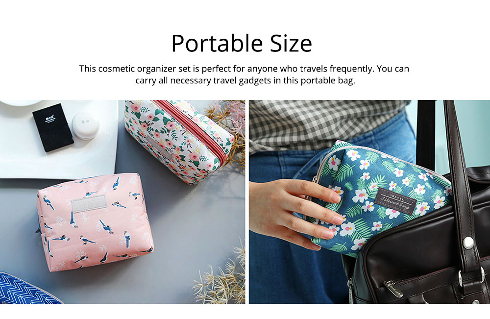 Portable Makeup Bags for Lipstick, Toner, Cream, Small Cosmetic Case Makeup Organizer for Women, Hotel, Home, Travel Essentail Storage Bags 6