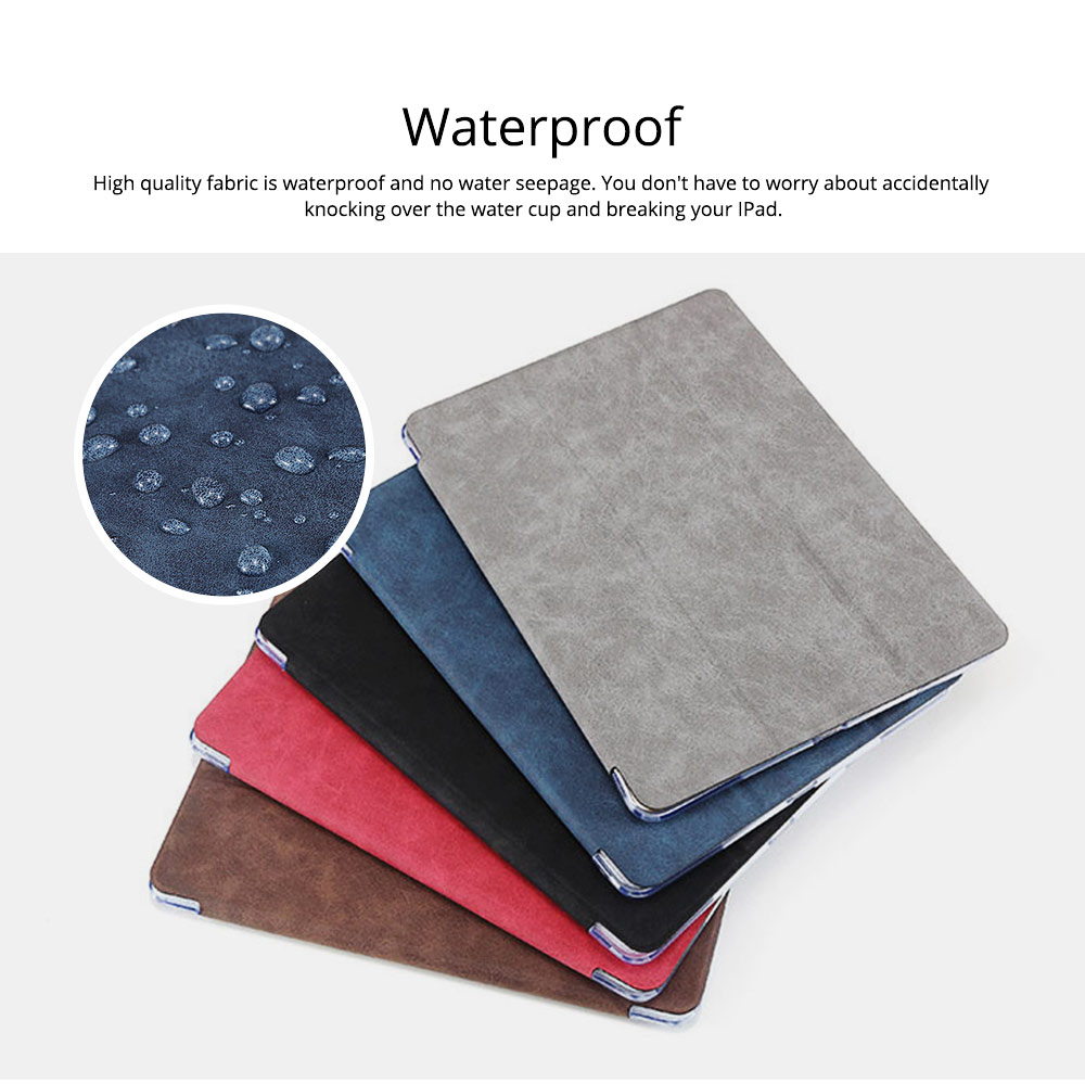 PU Leather Folio Case for iPad Pro 12.9, 10.5, 9.7, Multiple Angles Stand Smart Protective Cover, Trifold Stand Smart Shell Pure Color iPad Case 1