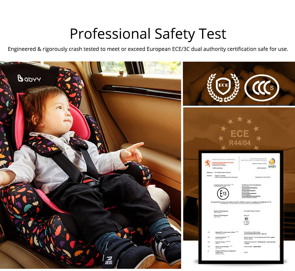 Children's Booster Seat, Large Auto Car Seat Protectors for Child, Baby Safety Seat Thick Padding Lightweight Car seat 1