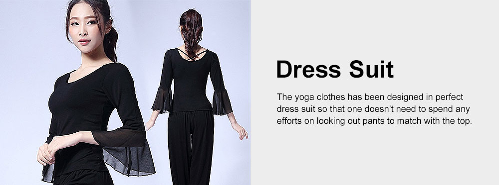 Skin-friendly Yoga Wear Suit, Loose Performance Wear Large Size, Loose Clothes Suit Fitness Dress Suit for Women 2019 5