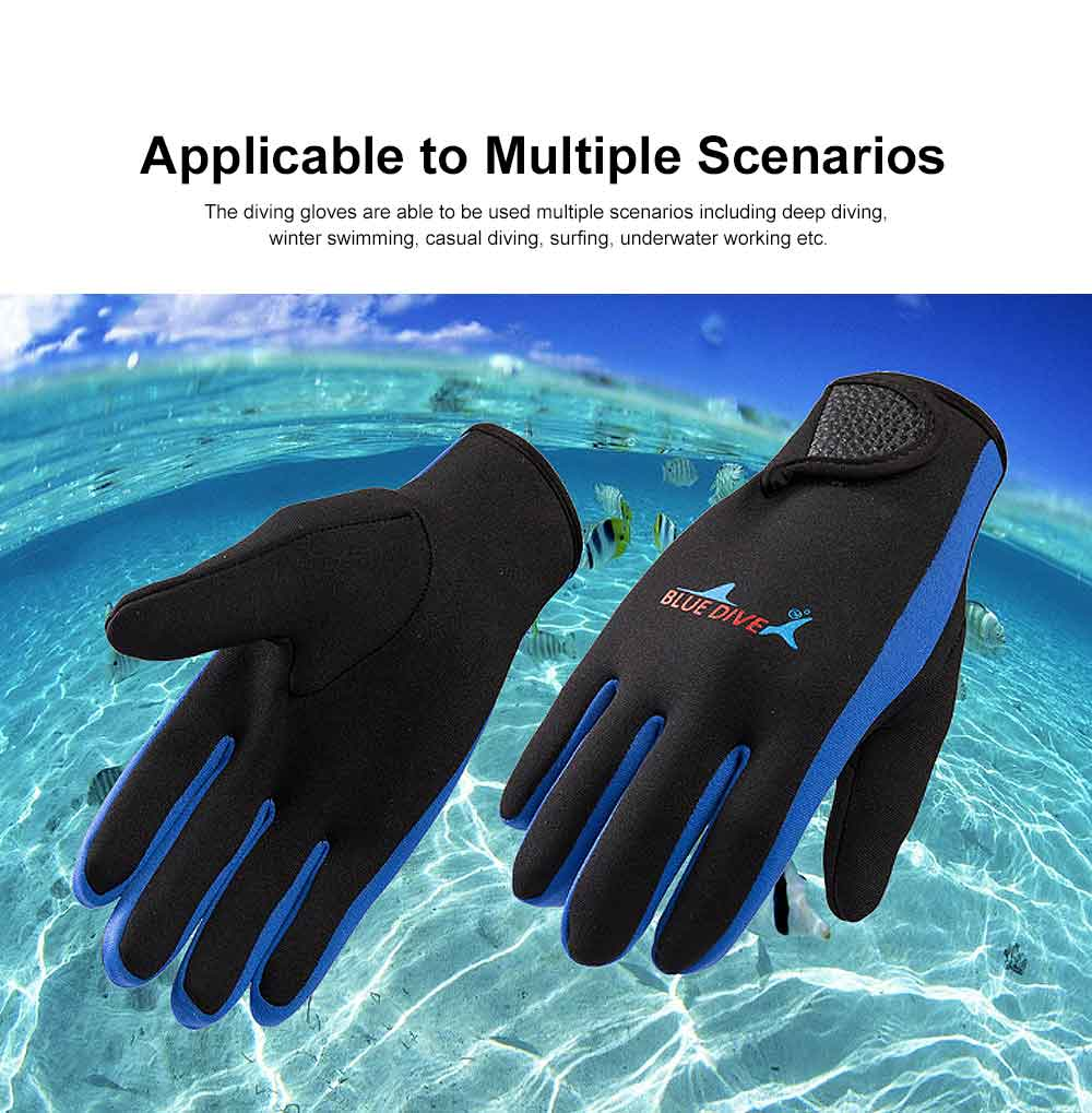 Diving Gloves for Divers, Wear Resistant Diving-dedicated Gloves, Underwater Working Gloves for Snorkeling, Diving, Winter Swimming, Surfing  1